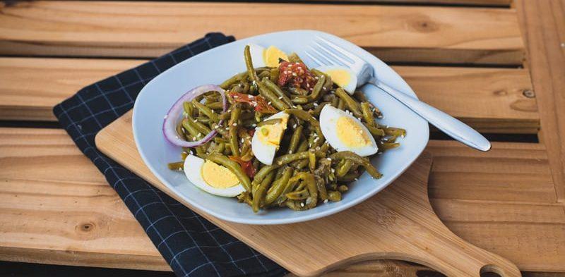 photo assiette salade de haricots verts