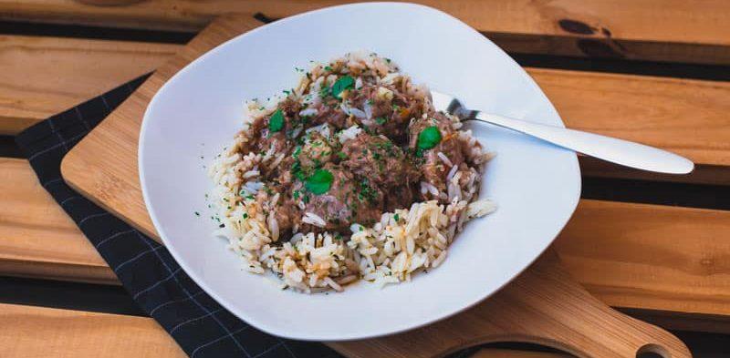bœuf à la saint gilloise et son riz de camargue