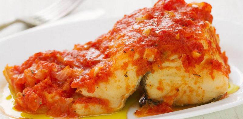 suprême de colin sauce tomate