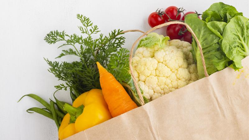 sachet de légumes frais