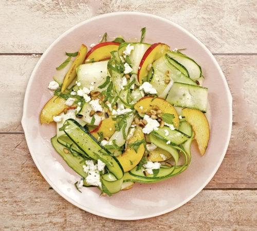 Salade de courgettes et nectarine