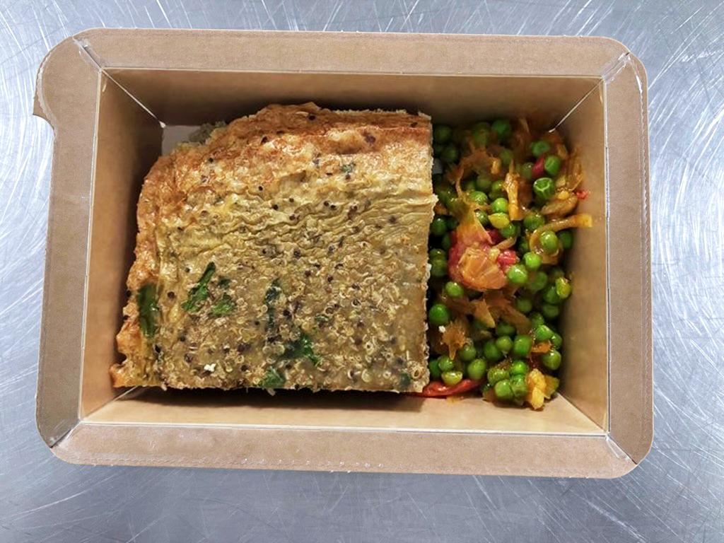 Flan de quinoa à l'indienne