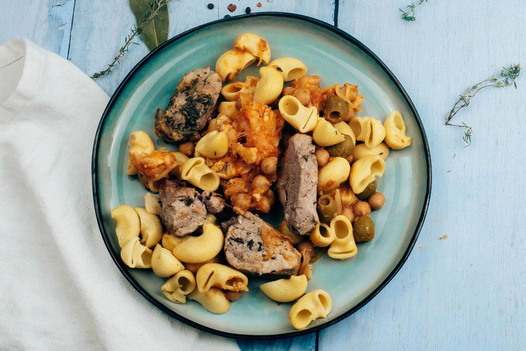 fricassée-porc-olives